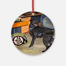 Monroe Police K9 Assoc. Round Ornament