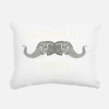Elephant Rides Rectangular Canvas Pillow