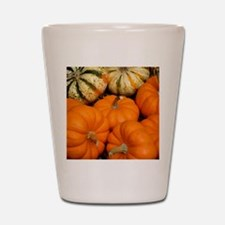 Pumpkins in a basket Shot Glass