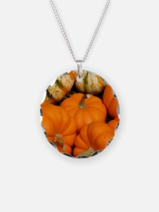Pumpkins in a basket Necklace