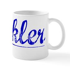 Heckler, Blue, Aged Mug