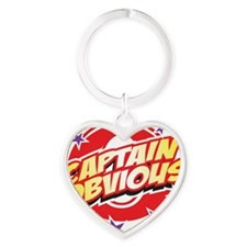 Captain Obvious Heart Keychain