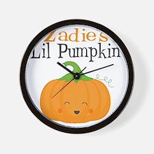 Zadies Little Pumpkin Wall Clock