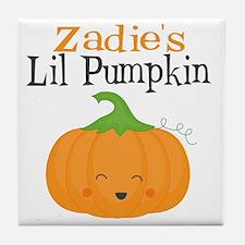 Zadies Little Pumpkin Tile Coaster