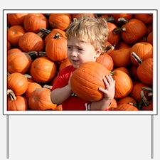 Wyatt in the pumpkin patch Yard Sign