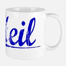Heil, Blue, Aged Mug