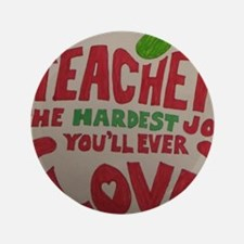 """Teacher Love 3.5"""" Button"""