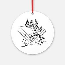 Masonic Tools Round Ornament