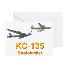 KC-135 Statotanker refueling B-52 St Greeting Card