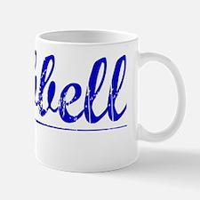 Hubbell, Blue, Aged Mug
