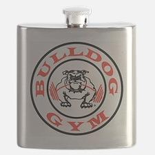 Bulldog Gym Logo Flask