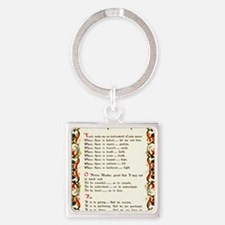 A Simple Prayer by Saint Francis o Square Keychain