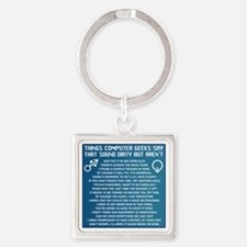 Dirty Computers Square Keychain