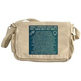Funny geek Canvas Messenger Bags