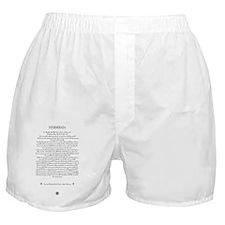 The DESIDERATA Poem by Max Ehrmann. Boxer Shorts