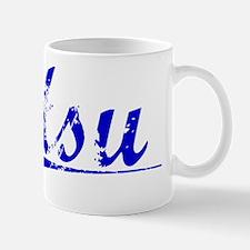 Hsu, Blue, Aged Mug