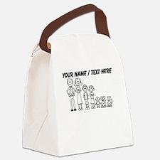 Custom Happy Family Canvas Lunch Bag