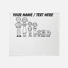 Custom Happy Family Throw Blanket