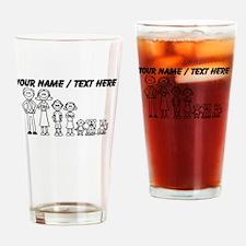 Custom Happy Family Drinking Glass