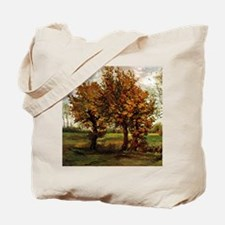 Van Gogh Autumn Landscape with Four Trees Tote Bag