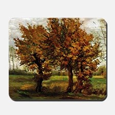 Van Gogh Autumn Landscape with Four Tree Mousepad