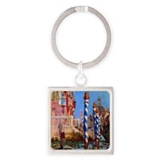 Manet Grand Canal in Venice Square Keychain