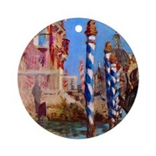 Manet Grand Canal in Venice Round Ornament