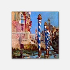 "Manet Grand Canal in Venice Square Sticker 3"" x 3"""