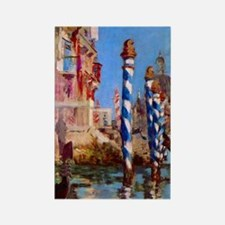 Manet Grand Canal in Venice Rectangle Magnet