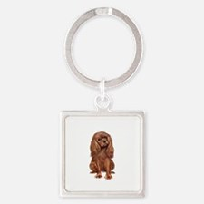 Ruby Cavalier 1 Square Keychain