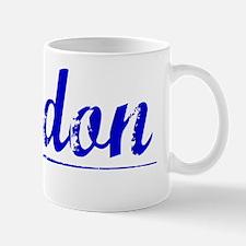 Jordon, Blue, Aged Mug