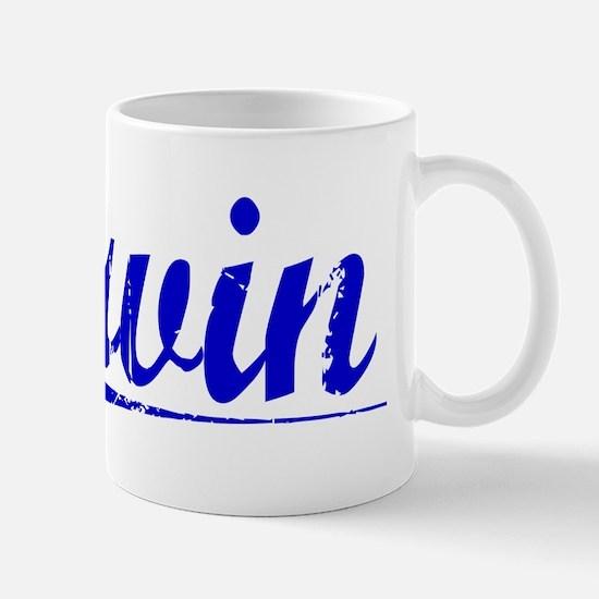 Irvin, Blue, Aged Mug
