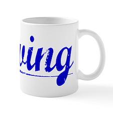 Irving, Blue, Aged Mug
