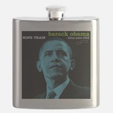 Barack Obama HOPE TRAIN Jazz Album Cover Flask