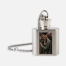 John William Waterhouse My Sweet Ro Flask Necklace
