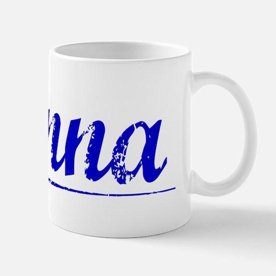 Kenna, Blue, Aged Mug