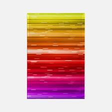 Rainbow Address Book Rectangle Magnet