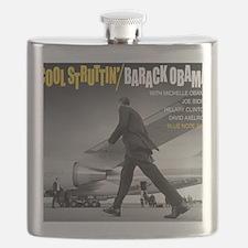 Barack Obama COOL STRUTTIN' Jazz Album Cover Flask