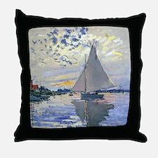 Claude Monet Sailboat Throw Pillow