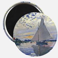 Claude Monet Sailboat Magnet