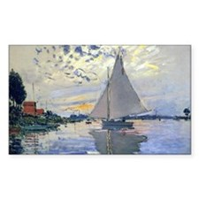 Claude Monet Sailboat Decal