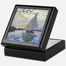 Claude Monet Sailboat Keepsake Box