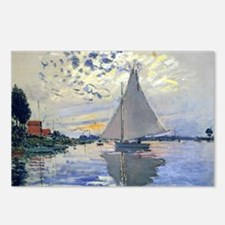 Claude Monet Sailboat Postcards (Package of 8)