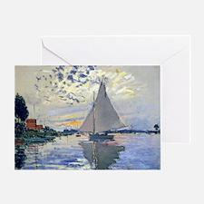 Claude Monet Sailboat Greeting Card