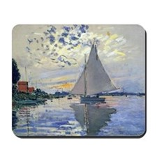 Claude Monet Sailboat Mousepad