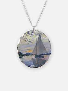 Claude Monet Sailboat Necklace