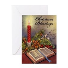 Christmas Bible Blessings Greeting Card
