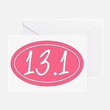 Pink 13.1 Greeting Card
