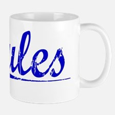 Jules, Blue, Aged Mug