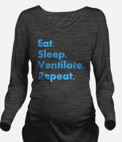 RT Eat sleep VENTILA Long Sleeve Maternity T-Shirt